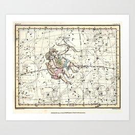 Gemini Constellation Celestial Atlas Plate 15 - Alexander Jamieson Art Print