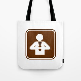 "Urban Pictograms ""Communicate"" Tote Bag"