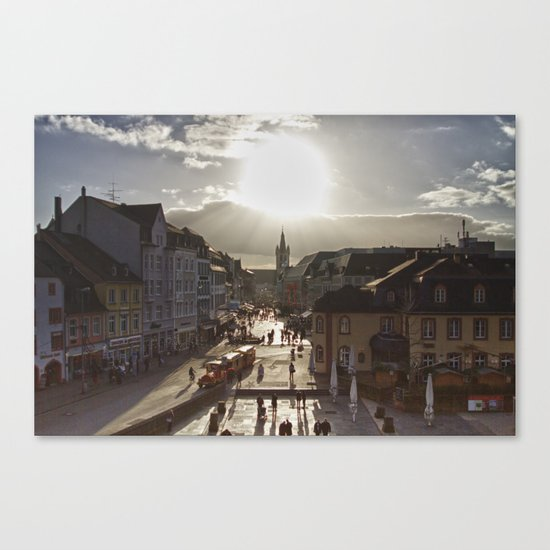 Basking in the Winter Sun Canvas Print