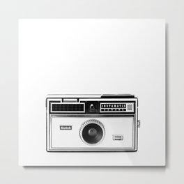 Vintage Camera: Kodak Instamatic 100 Square Metal Print
