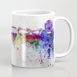 Minsk skyline in watercolor background Coffee Mug
