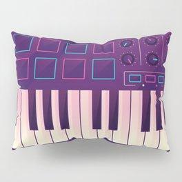 Neon MIDI Controller Pillow Sham