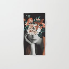WOMAN WITH FLOWERS 7 Hand & Bath Towel