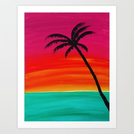 Sunset Palm 2 Art Print