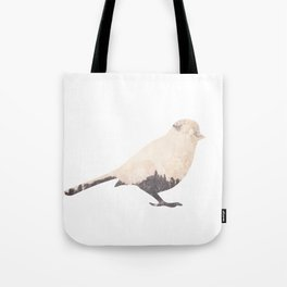pink sky bird with trees Tote Bag