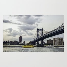 New York water taxi and the Manhattan Bridge Rug