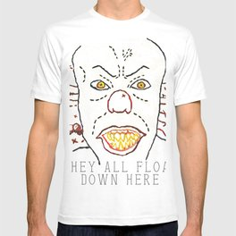 They All Float Down Here - Digitally Rendered Hand Embroidery T-shirt
