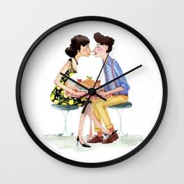 Spaghetti lovers Wall Clock