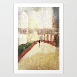farewell to the city Art Print