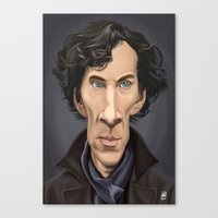 benedict Canvas Prints featuring Celebrity Sunday ~ Benedict Cumberbatch by rob art | illustration