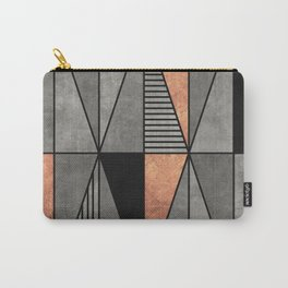 Concrete and Copper Triangles Carry-All Pouch
