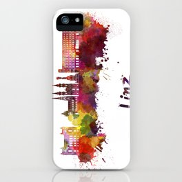 Linz skyline in watercolor iPhone Case