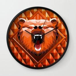 Bear Head Trophy Wall Clock