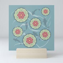 Koi Lotus Pond Mini Art Print