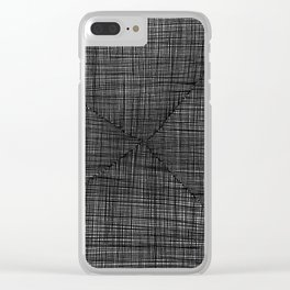 Ink Weaves: Slate Clear iPhone Case