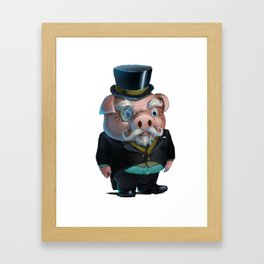 Kink Pig Master Rough Dressed to The Nines Framed Art Print
