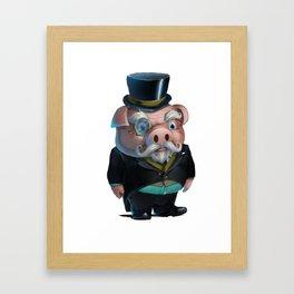 Kink Pig Master Rough Dressed to The Nines Framed Art Print