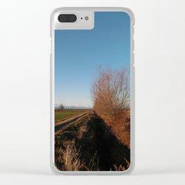 winter fields Clear iPhone Case