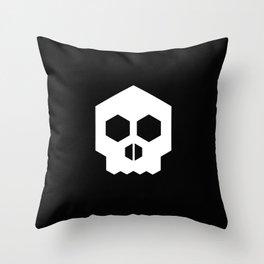 hex geometric halloween skull Throw Pillow