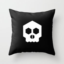hex geometric halloween skull Throw Pillow