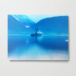 Ship on loch Metal Print