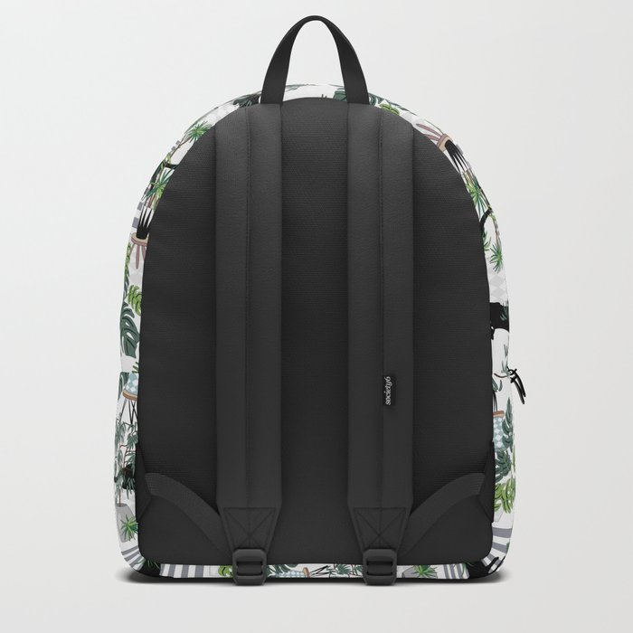 cats in the interior pattern Rucksack