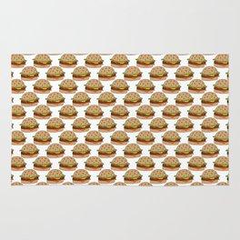 Hamburger - BBQ Doodle Pattern Rug