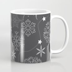 Stars on a string with snowflake and fireworks Mug