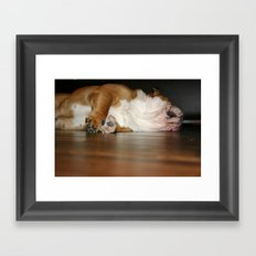Lazy Bulldog Framed Art Print