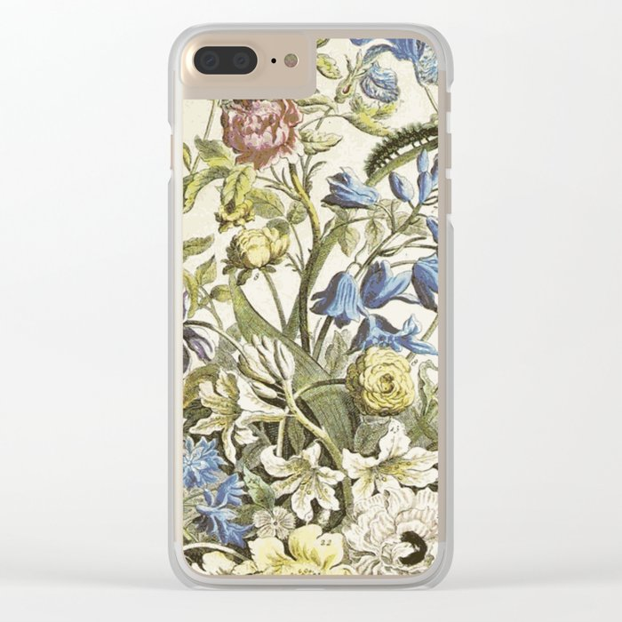 Pastel flower Clear iPhone Case