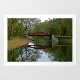 Get Back 1 * Bucks County Bridge * Delaware Canal Art Print