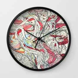 Cool Vintage Map of Mississippi River - Sheet 6 Wall Clock