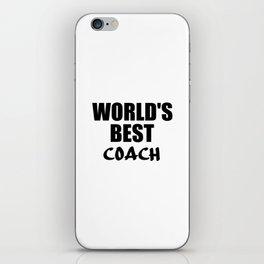 worlds best coach iPhone Skin