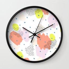 Blotchy Pattern Wall Clock