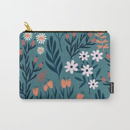Beautiful Springtime Garden Daisy And Tulip Pattern Carry-All Pouch