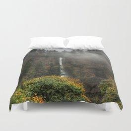 Multnomah Falls Oregon Duvet Cover