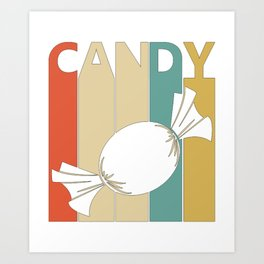 Vintage Candy Lover Gift Idea for sweet lover  Art Print