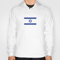 israel Hoodies featuring israel country flag david star by tony tudor