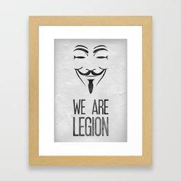 We Are Legion Framed Art Print