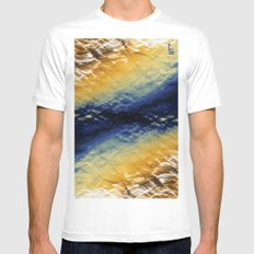 Tie-Dyed Waves Mens Fitted Tee White MEDIUM