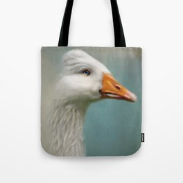 Goose with Bouffant Tote Bag