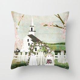 Ghost Wedding Throw Pillow