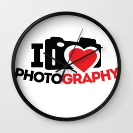 I Love Photography Gifts Photographer Photo Lover Wall Clock