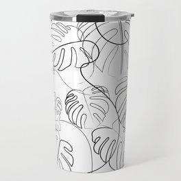 Cheese Plant Line Drawing Travel Mug