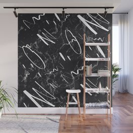 Gray Black Marble White Abstract Glam #1 #trendy #decor #art #society6 Wall Mural