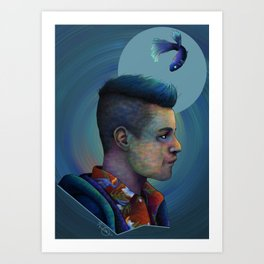 Mr. Robot and Qwerty Art Print