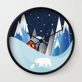 Snowing Bubble Wall Clock