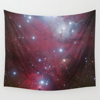 nasa Wall Tapestries featuring Nebula galaxy unicorn star constellation NASA space stars geek sci fi star landscape photo by iGallery