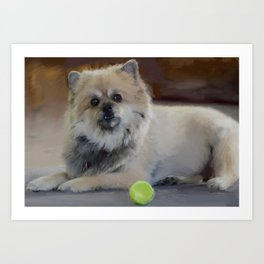 Guarding the ball Art Print