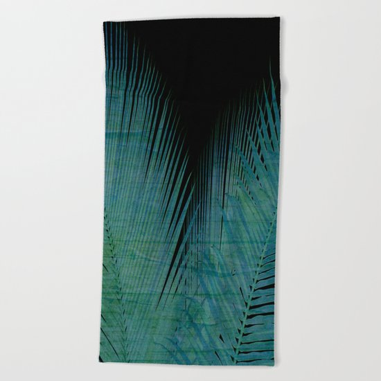Night Palm Beach Towel